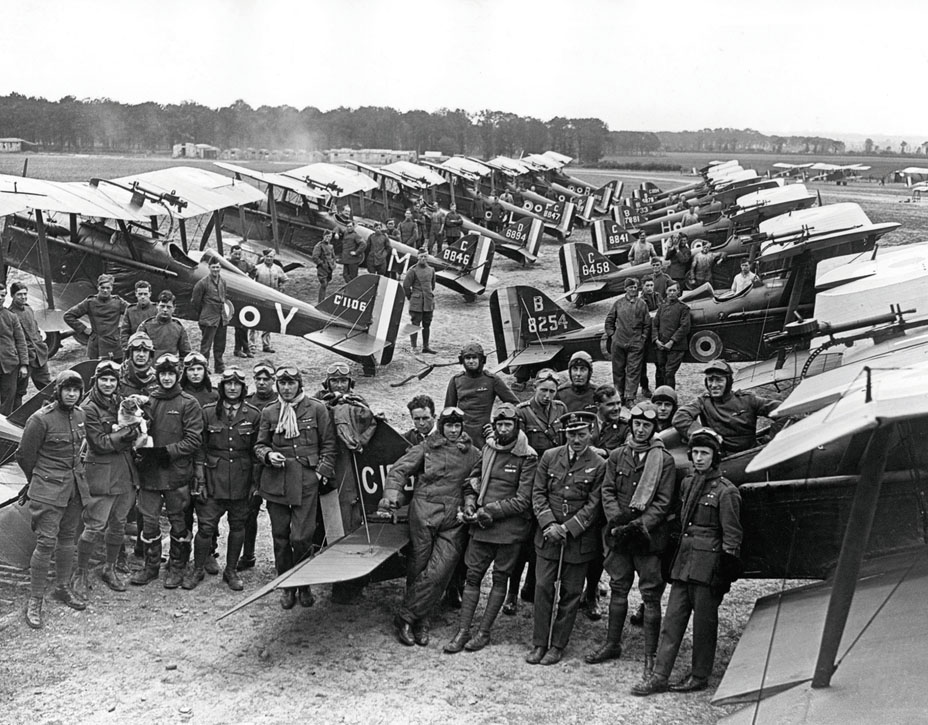 1000067:1 Sqn RAF at Clairmarrais, France with SE5a's, July 1918;