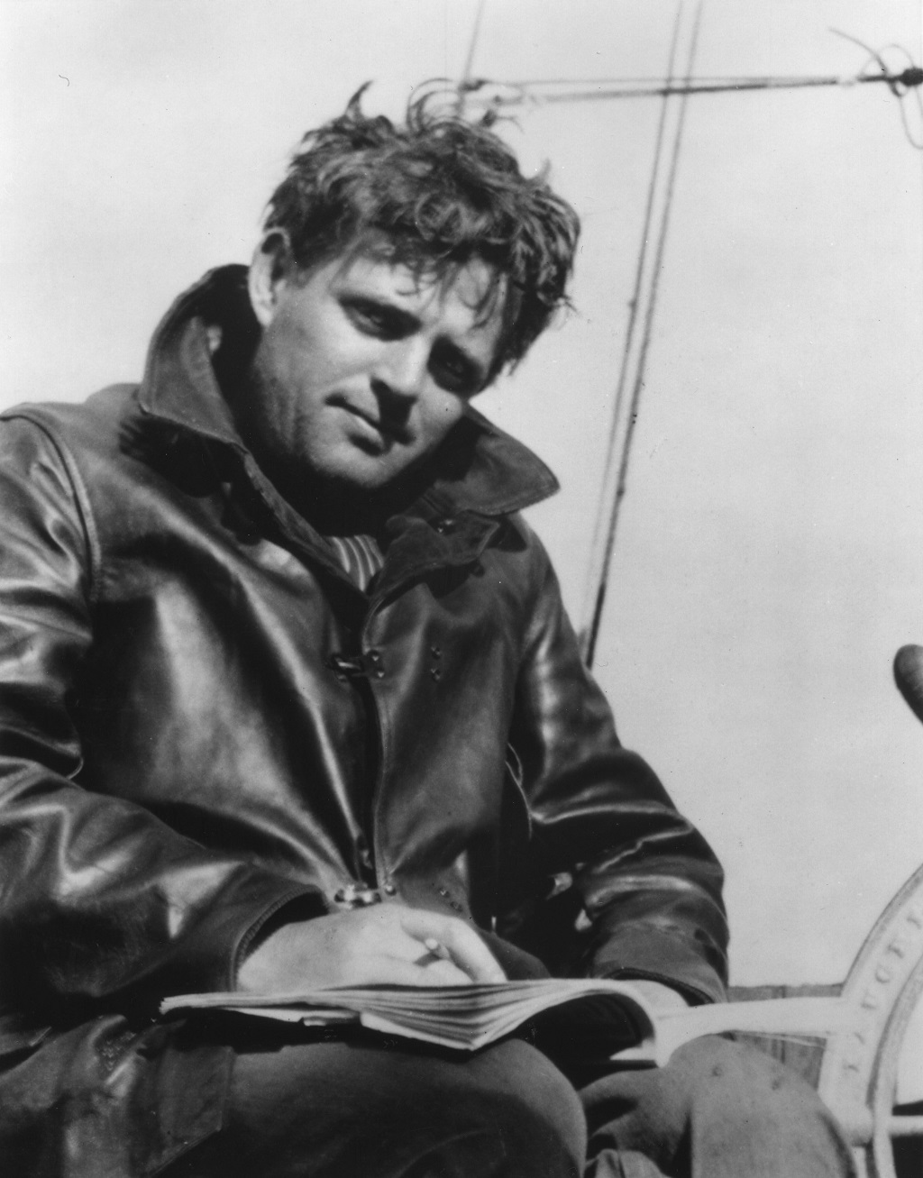 Jack London on board the Roamer