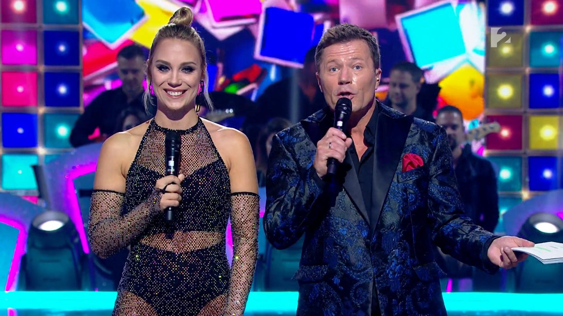 Kiss Ramóna szexi hálós ruhában vezette a Dancing with the Stars első adását